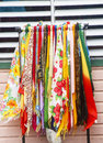 Colorful Fabrics by White Vent Stock Image