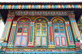 Colorful facade of building in singapore at little india Stock Images