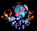 Colorful Faceted Gemstone Collection. Royalty Free Stock Images