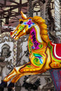 Colorful fairground carousel horse Royalty Free Stock Photos