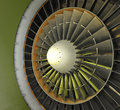 Colorful fan military cargo jet engine intake on display at an aircraft museum at the former travis air force base near fairfield Royalty Free Stock Images
