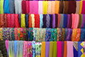 Colorful fashion headscarf fabrics displayed on local store in indonesia thesae are the store or also known for islamic Stock Image