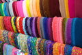 Colorful fashion headscarf fabrics displayed on local store in indonesia thesae are the store or also known for islamic Stock Images