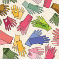 Colorful fashion seamless pattern (gloves) Royalty Free Stock Photography