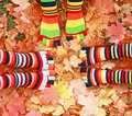 Colorful Feet Royalty Free Stock Photo