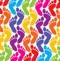 Colorful feet Royalty Free Stock Image