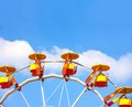 Colorful ferris wheel colourful with blue sky in the background Royalty Free Stock Photography