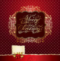 Colorful festive Christmas card Stock Photography