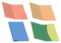 Colorful File Folders Vector Illustration Royalty Free Stock Photo
