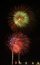 Colorful firework thailand national fireworks at hua hin Royalty Free Stock Image