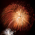 Colorful fireworks ball Stock Photography