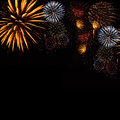 Colorful fireworks beautiful the festival Stock Image