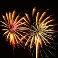 Colorful fireworks beautiful the festival Stock Photography