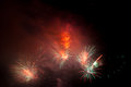 Colorful fireworks on the black sky Royalty Free Stock Photo