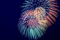 Colorful Fireworks On The Dark...