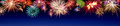 Colorful fireworks display on blue Royalty Free Stock Photo