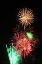 Colorful fireworks in the night sky light up annual celebrations across country Stock Image