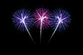 Colorful fireworks over dark sky beautiful Royalty Free Stock Image