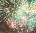 Colorful fireworks in the skies Royalty Free Stock Photography