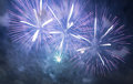 Colorful fireworks in the skies Royalty Free Stock Photos