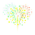 Colorful fireworks on white background Royalty Free Stock Photo