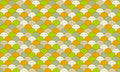 Colorful fish scale pattern seamless texture in colors of green orange tan and brown Stock Photography