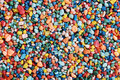 Colorful fish tank gravel Stock Images