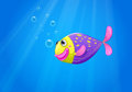 A colorful fish under the sea illustration of Royalty Free Stock Images