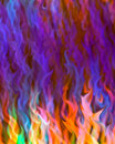 Colorful flame blur Stock Photos