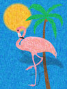 Colorful flamingo illustration
