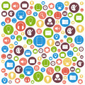 Colorful flat icons vector design elements Royalty Free Stock Photo