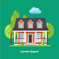 Colorful flat residential houses vector Stock Photography