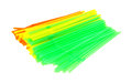 Colorful flexible drinking straws a nice view of an assortment of bendable Royalty Free Stock Images
