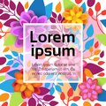 Colorful Floral Background Spring Graphic Design With Flowers Banner With Copy Space Royalty Free Stock Photo