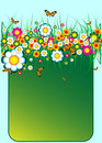 Colorful floral banner Royalty Free Stock Photo