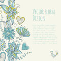 Colorful floral banner in vintage style. Seamless pattern. Royalty Free Stock Photo