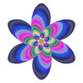 Colorful floral fractal background art