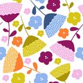 Colorful floral graphic pattern design