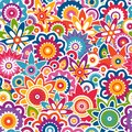 Colorful floral pattern. Seamless background. Royalty Free Stock Photo