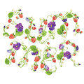 Colorful floral print with summer word