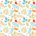 Colorful floral seamless pattern Royalty Free Stock Photo