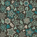Colorful floral seamless pattern in cartoon style can be used for wallpaper fills web page background Royalty Free Stock Images