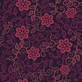Colorful floral seamless pattern in cartoon style can be used for wallpaper fills web page background Stock Images