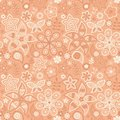 Colorful floral seamless pattern in cartoon style can be used for wallpaper fills web page background Royalty Free Stock Photos
