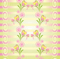 Colorful floral vector seamless pattern Royalty Free Stock Photos