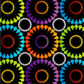 Colorful floral wallpaper for web use or text box Royalty Free Stock Photos