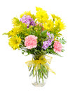 Colorful flower arrangement centerpiece Royalty Free Stock Photo