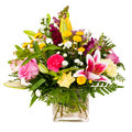 Colorful flower bouquet arrangement centerpiece Royalty Free Stock Photo