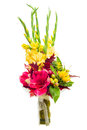 Colorful flower bouquet arrangement centerpiece Royalty Free Stock Images