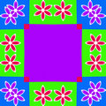 Colorful Flower Frame Background Illustration Stock Photo
